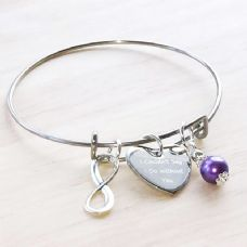 Engraved Adjustable Wedding Infinity Bangle